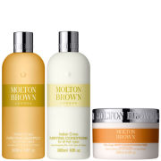 Molton Brown Indian Cress Purifying Shampoo, Conditioner 300ml & deep Conditioning Mask 200ml (Bundle)