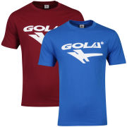 Gola Men's 2-Pack T-Shirts - Cobalt/Burgundy