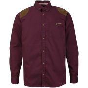 Tokyo Laundry Men's Asher Cord Patch Shirt - Oxblood