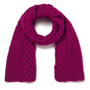 French Connection Fifi Knitted Scarf - Berry Punch