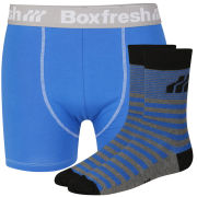 Boxfresh Men's Sock & Boxer Gift Set - Blue