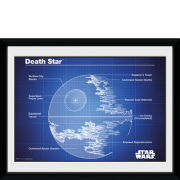 Star Wars Death Star Blueprint - 8x6 Framed Photographic