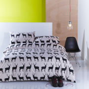 Catherine Lansfield Kissing Stags Pillow Case - Pair - Black