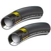 Continental Attack Comp and Force Comp Set Tubular Road Tyre - Black