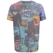 Brave Soul Men's Giovanni One Way City Print T-Shirt - Multi