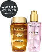 Kérastase Elixir Ultime Huile Lavante Bain (250ml) and Oil (125ml) Duo for Colour-Treated Hair Bundle