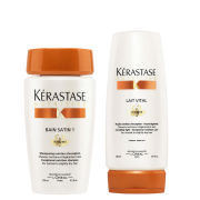 Kérastase Nutritive Bain Satin 1 (250ml) and Nutritive Lait Vital Irisome (200ml) Bundle