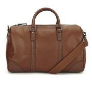 Ted Baker Men's Broguing Leather Holdall Bag - Tan