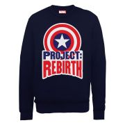 Marvel Avengers Assemble Captain America Project Rebirth Men's Sweatshirt - Black