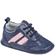 PlayShoes Leather Infant Shoes - Navy/Pink
