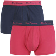 Ben Sherman Men's 2 Pack Trunks - Navy/Cerise