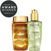 Kérastase Elixir Ultime Huile Lavante Bain (250ml) and Oil (125ml) Duo for Damaged Hair Bundle