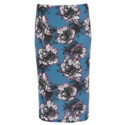 Damned Delux Women's Peony Co-ordinate Floral Skirt - Teal