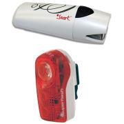 Smart Lunar 25 Lux Front White with 1/2 Watt Rear Light Set (2xAA, 2xAAA batt. inc.)