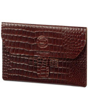 dbramante1928 Leather Kindle Touch Envelope - Crocodile Brown
