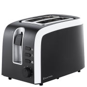 Russell Hobbs Mono 2 Slice Toaster - Black and White Monochrome