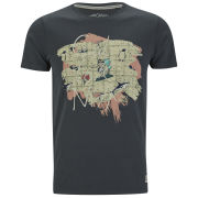 Jack & Jones Mens Rose T-Shirt - Pirate Black - S