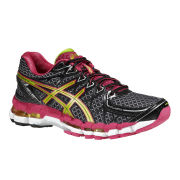 Asics Women's Gel-Kayano 20 Trainers - Black/Lime/Raspberry