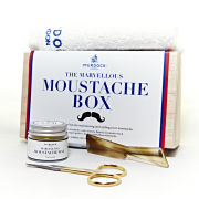 Murdock London Marvellous Moustache Box (Moustache Wax Natural 30ml, Mini Scissors, Moustache Comb, Mini Brush)