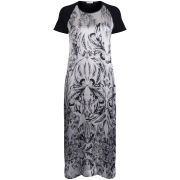 Draw In Light Women's Acid Butterfly Silk Maxi Dress - Bleach On Black