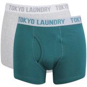Tokyo Laundry Men's Sharpe 2-Pack Boxers - Light Grey Marl/Deep Teal