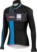 Sportful Gruppetto Men's Partial WS Jacket - Black/Anthracite/Cyan
