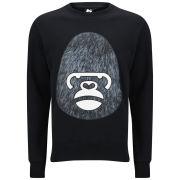 Money Men's George Gorilla Fur Crew Sweatshirt - Jet Black