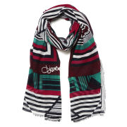 DVF Women's Hanovar Modal Block Stripe Scarf - Midnight
