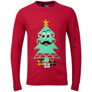 Christmas Branding Tree Knitted Jumper - Red