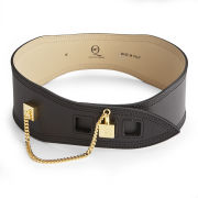 McQ Alexander McQueen Women's Cube Leather Belt - Black