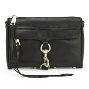 Rebecca Minkoff Women's Mini Mac Leather Cross Body Bag - Black with Gold Hardware