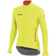 Castelli Gabba 2 Long Sleeve Wind/Rain Jersey - Yellow Fluo
