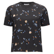 Opening Ceremony Women's Scattered Petals Shirting Short Sleeve Top - Black Multi