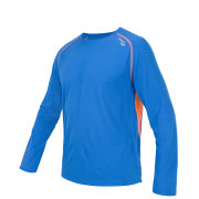 Saucony Men's Kinvara Long Sleeve Top - Enduro Blue/Vizipro