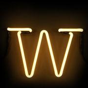 Seletti Neon Letter W
