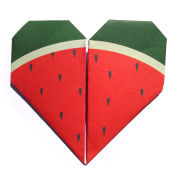 Lollipop Origami Notepaper Set: Watermelon