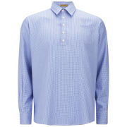 Peter Jensen Men's Cotton Shirt - Blue Houndstooth