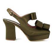 Vivienne Westwood Women's Square Toe Platform Heels - Green