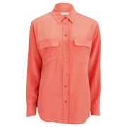 Equipment Women's Signature Shirt - Neon Orange