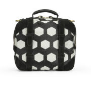 Jerome Dreyfuss Sam Zip Around Pony Calfskin and Leather Cross Body Bag - Black/White