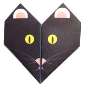 Lollipop Origami Notepaper Set: Cat