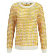 Only Women's Graffic Dogtooth Jumper - Yellow