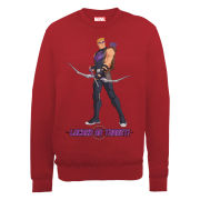Marvel Avengers Assemble Hawkeye Locked on Target Men's Sweatshirt - Red