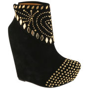 Jeffrey Campbell Women's Zion Studded Wedge Boots - Black