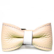 Anna Lou of London Leather Bow Bracelet - Pastel Yellow