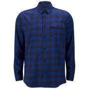WeSC Men's Hank Check Shirt - Mood Indigo