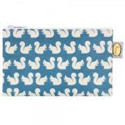 Anorak Women's Kissing Squirrels Flat Purse - Teal/Blue/Cream