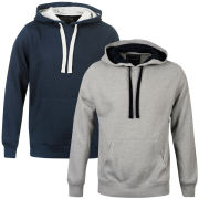 55 Soul Men's 2 Pack Hooded Sweater - Navy & Light Grey Marl