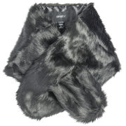 Unreal Fur Faux Fur Furocious Thread-Through Scarf - Black