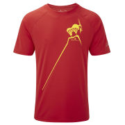 RonHill Men's Trail Mountain Goat T-Shirt - Cardinal Red/Solar